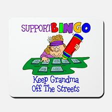 Support Bingo Funny Mousepad