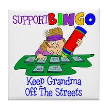 Support Bingo Funny Tile Coaster