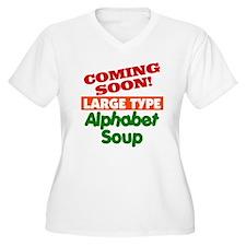 Large Type Alphabet Soup T-Shirt