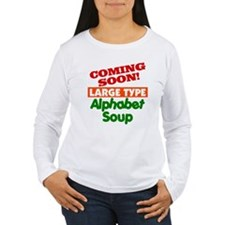 Large Type Alphabet Soup T-Shirt