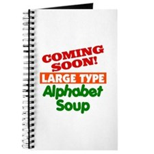 Large Type Alphabet Soup Journal