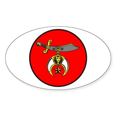 Shrine Semitar Sticker (Oval)