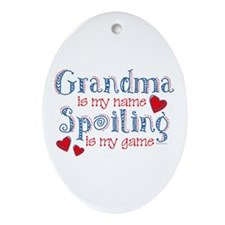 Spoiling Grandma Oval Ornament