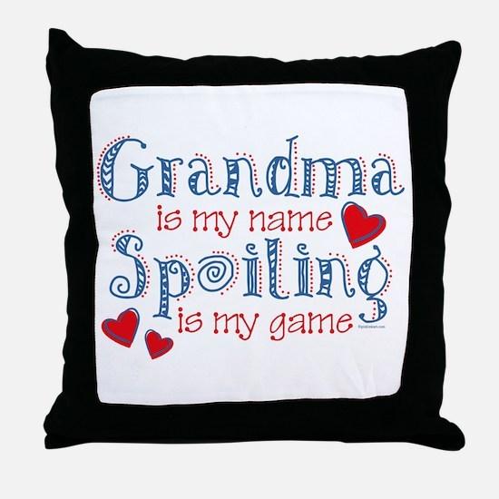 Spoiling Grandma Throw Pillow
