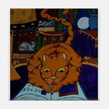 The Wizard's Cat Tile Coaster