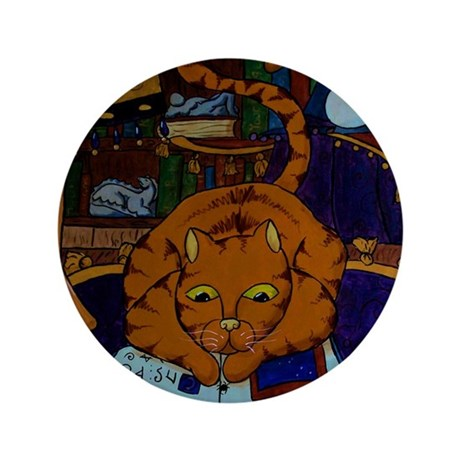 "The Wizard's Cat 3.5"" Button (100 pack)"