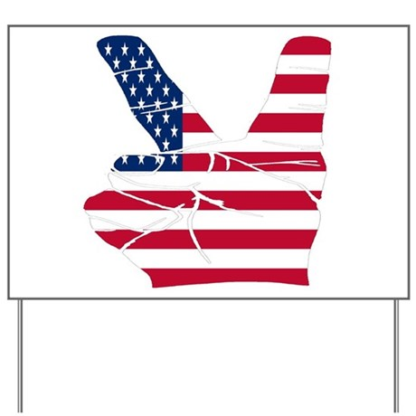 USA Peace Sign Yard Sign