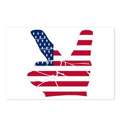 USA Peace Sign Postcards (Package of 8)