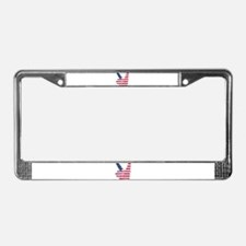 USA Peace Sign License Plate Frame
