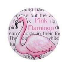 Pink Flamingo Ornament (Round)