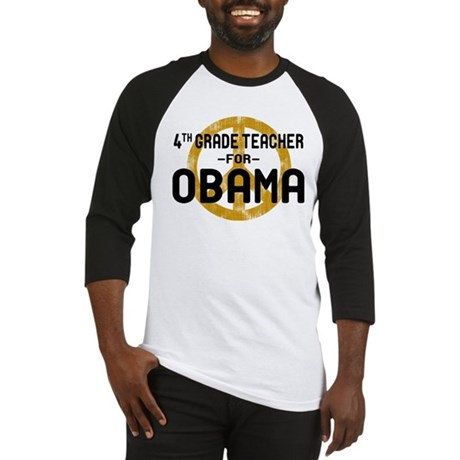 4th Grde Tchr For Obama Baseball Jersey