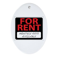 For Rent Oval Ornament