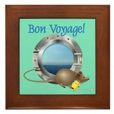 Sailing Mouse on Vacation Framed Tile