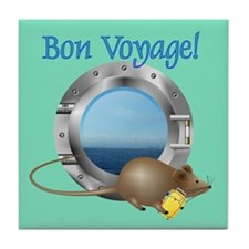 Sailing Mouse on Vacation Tile Coaster