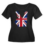 UK Victory Peace Sign Women's Plus Size Scoop Neck