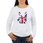 UK Victory Peace Sign Women's Long Sleeve T-Shirt