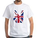 UK Victory Peace Sign White T-Shirt