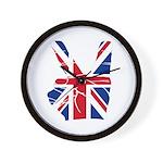 UK Victory Peace Sign Wall Clock