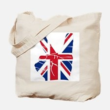 UK Victory Peace Sign Tote Bag