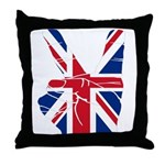 UK Victory Peace Sign Throw Pillow