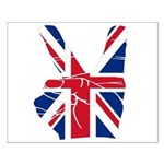 UK Victory Peace Sign Small Poster