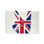 UK Victory Peace Sign Rectangle Magnet (100 pack)