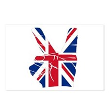 UK Victory Peace Sign Postcards (Package of 8)