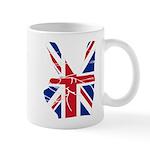 UK Victory Peace Sign Mug