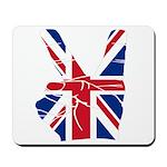 UK Victory Peace Sign Mousepad