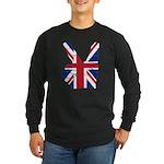 UK Victory Peace Sign Long Sleeve Dark T-Shirt