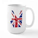UK Victory Peace Sign Large Mug