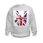 UK Victory Peace Sign Kids Sweatshirt
