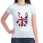 UK Victory Peace Sign Jr. Ringer T-Shirt