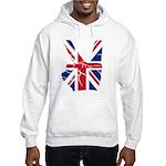 UK Victory Peace Sign Hooded Sweatshirt