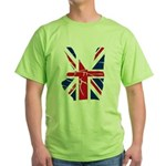 UK Victory Peace Sign Green T-Shirt