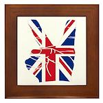 UK Victory Peace Sign Framed Tile