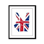 UK Victory Peace Sign Framed Panel Print