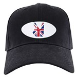 UK Victory Peace Sign Black Cap