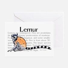 Lemur Greeting Card