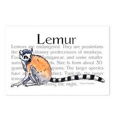 Lemur Postcards (Package of 8)
