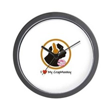 I Love My CrapMonkey Wall Clock