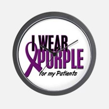 I Wear Purple For My Patients 10 Wall Clock