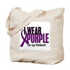 I Wear Purple For My Patients 10 Tote Bag