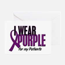 I Wear Purple For My Patients 10 Greeting Card