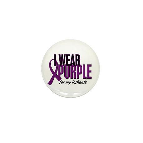 I Wear Purple For My Patients 10 Mini Button (10 p