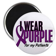 "I Wear Purple For My Patients 10 2.25"" Magnet (10"