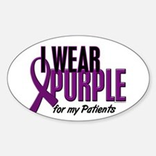 I Wear Purple For My Patients 10 Oval Decal