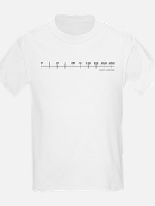 Binary Number Line Kids T-Shirt