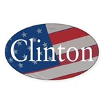 American Flag Clinton Oval Bumper Sticker