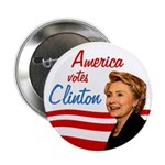 America votes Clinton Activist Pack Buttons